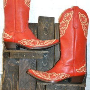 Old Gringo  Red Tall Cowboy Boots Sz 7